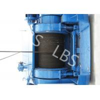 Mining Underground Hydraulic Crane Winch High Strength Steel With Bule / Yellow Color