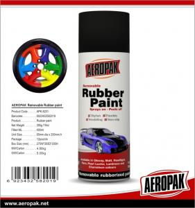 China Aeropak Simple To Handle Glossy Matt Peelable Rubber Spray Paint Colorful For Car on sale