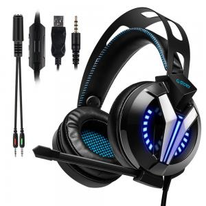 China Exquisite Craftsmanship Wired Gaming Headset With Microphone And Volume Control on sale