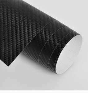 China Black 3D Carbon Fiber Vinyl Car Wrap on sale