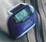 Solar pedometer with distance and calorie function