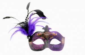 China Purple Ladies Half Face Masquerade Masks , Cool Face Masks on sale