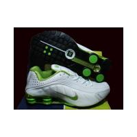 China Nike Shox R4 Women's Shoes white with green on sale