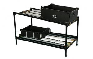 China Black Plastic Coated Steel Pipe Rack / Industrial Shelving , Fifo Flow Racking Systems on sale