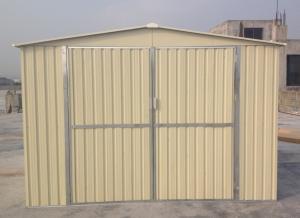 China 10x8 Prefab Metal Garden Shed For Car Garage , 0.3mm Color Boards / 0.6mm Zinc Steel Frame on sale