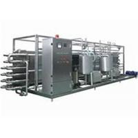 Milk UHT Sterilization Machine / Pipe In Pipe Sterilizer With PLC Finger Touch Screen