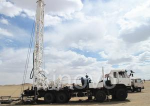 China High Efficient Water Well Drilling Rig with Drilling Depth 200m 100 kw on sale