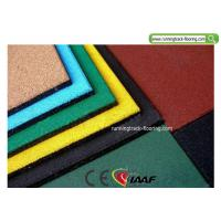 China Recycled Playground Rubber Mats / Sport Court Flooring 50*50*2cm on sale