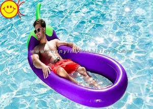 Quality Giant Inflatable Aubergine Water Pool Loungers / Inflatable  Eggplant Pool Float For Sale ...