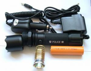 China super bright rechargeble led lights high brightness police led flashlights on sale