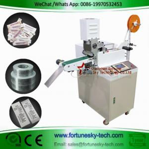 China Computerized fully automatic high-speed ultrasonic label trademark washing mark ribbon printed mark cutting machine on sale