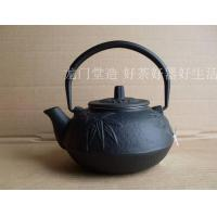 China Chinese Antique Cast Iron Tea Pot 600ml With Bamboo & Plum Blossom Design on sale