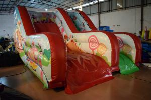 China PVC Tarpaulin Forest Commercial Inflatable Water Slides / Outdoor Mini Dry Slide on sale