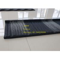 China Wind Resistance Wood Tile Stainless Steel Corrugated Sheet Black And Wite Color on sale