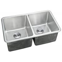 Double Bowl Kitchen Sink / Double Basin Stainless Steel Sink Rectangular Shape