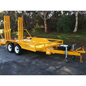 China 3200 KG 8x5 Tandem Plant Trailer , Heavy Duty Equipment Trailers For Transport on sale