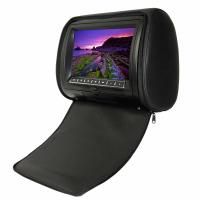 "Black "" OSD, IR, FM, Games, Joysticks 8GB - 16GB Portable DVD Player Car Headrest With Wide Angle"
