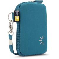 Blue Neoprene Point and Shoot Camera Case , Waterproof and Zippered
