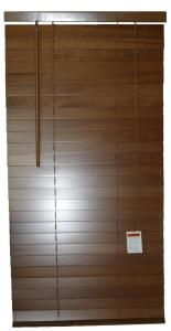 China 64mm Basswood Venetian Window Blinds Smooth Manual Inside / Outside on sale