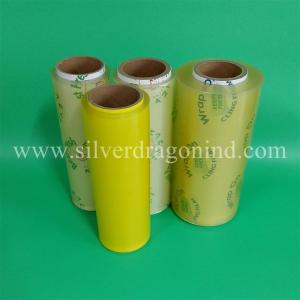 China Transparent PVC cling film for food wrapping, professional producer, high quality, competitive price, 9 to 17 microns on sale