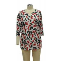 Flowered Printed Fancy Ladies Casual T Shirts Women