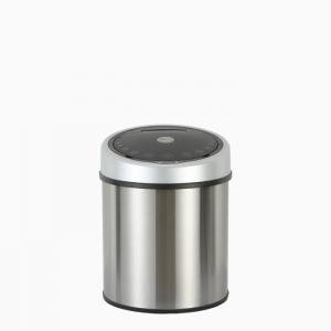 China Electric touchless stainless stell kitchen trash can battery used on sale