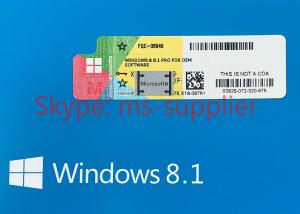 Quality Microsoft Windows 8.1 Pro Pack OEM Upgrade 32 Bit / 64 Bit With English Retail for sale