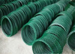 China Concertina Razor Barbed Wire , Hot Dipped Galvanized Razor Wire 2.5mm Diameter on sale