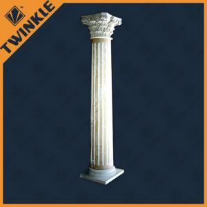 China Interior Decorative Natural Stone Column With White Marble , Handcarving on sale