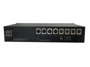 China 6 channels 3G-SDI  Fiber Optic Extender with external balance audio and datat with Ethernet on sale