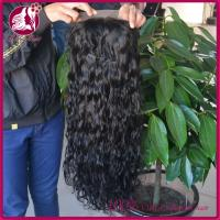 Long Side Full Lace Real Hair Wigs Natural Color Deep Wave , Virgin Indian Women