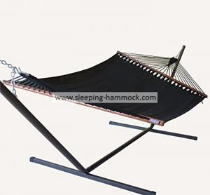 China Big Sturdy 2 Person Sleeping Hammock , Beach Swing Caribbean Style Hammock With Stand on sale