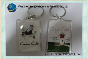 China Rectangle photo acrylic gift key chain / blank acrylic keychains on sale