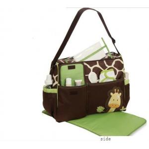 China Custom Popular Designer Baby Diaper Bags Small Nappy Changing Bag with Logo Printed on sale