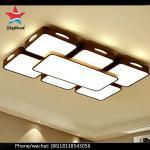 El caber ligero pendiente de cristal claro moderno de las lámparas de la sombra de lámpara del techo de la forma