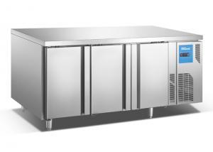 China Large Capacity 3 Door Underbench Fridge Horizontal Chiller For Kitchen Salad Bar on sale