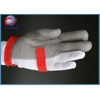 3 Finger Work Gloves / Stainless Steel Mesh Gloves With Adjustable Metal Buckle