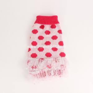 China winter pet product warm dog sweater pet apparel red doggie clothes for puppy dogs on sale