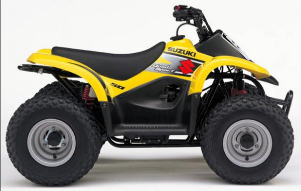 SUZUKI Mini Quad 50CC Yellow Four Wheel 4 - Stroke eec ATV ...
