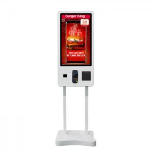 China MG-320TP Self Service Cash Register Floor Stand 32 / 24 Inch Android AIO on sale