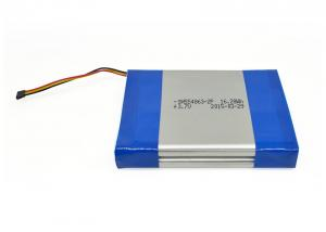 China 0.25CA 3.7V 4400mAh Lithium Polymer Battery Pack 16.28Wh for LED Lights 554863 1S2P on sale