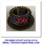 5TH GEAR 22T / 45T Jap Truck Spares  8-97241-231-0 4JH1-TC 4HF1-2005 NKR-71MYY5T