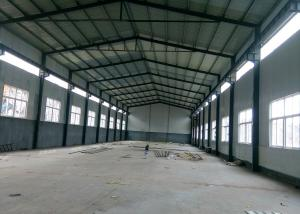 China Lightweight Prefabricated Steel Warehouse With Overhead Crane on sale