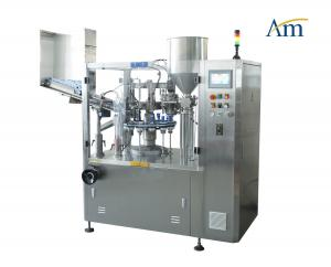 China NF -80 Tube Filling And Sealing Machine , Aluminum Tube Filling Machine For Cream Paste Ointment on sale