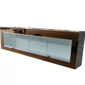 China Wall Mounted Jewelry Display Case Jewelry Store Showcases With Golden Mirror Surface on sale