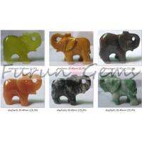 carving elephant-semi-precious stone