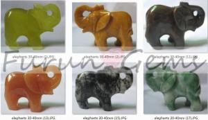China carving elephant-semi-precious stone on sale