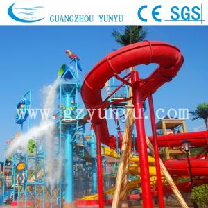 China water slide equipment---open spiral slide on sale