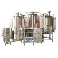 Customized Stainless Steel 3 Vessel Brewhouse With 50-100mm PU Insulation
