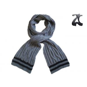 China Men Cable Knitted Neck Scarf , Thick 100% Acrylic Chunky Knitted Winter Scarf on sale